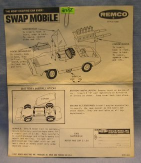 Vintage Remco Swap Mobil Brochure Dated 1967