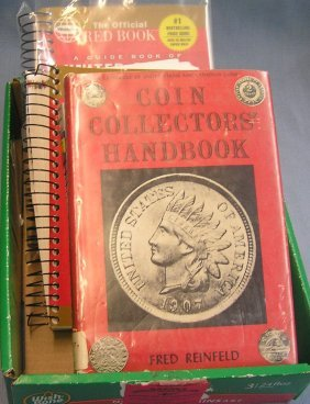 Box Full Of Coin Books And Price Guides