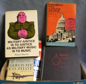 Vintage Military, Political And Aviation Books