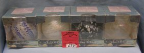 Box Of Four Glass Oil Lamps New Never Opened