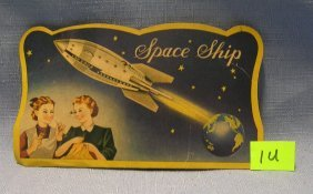 Early Space Ship Advertising Sewing Kit