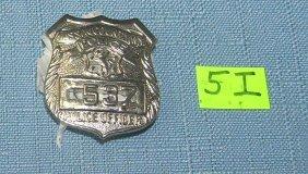 Vintage Nassau Policeman's Wallet Badge