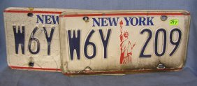 Ny License Plates Picturing The Statue Of Liberty