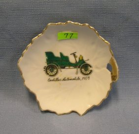 Early Cadillac Horseless Carriage Dish
