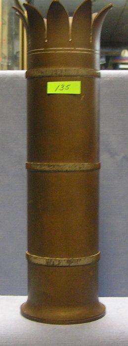 Heavy Brass Trench Art Vase