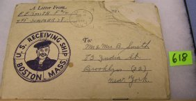 Wwii Letter And Booklet From The Us Navy