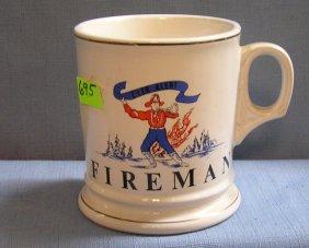 Vintage Fire Department Shaving Mug