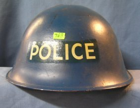 Vintage Wwii Military Fire Police Helmet