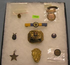 Educational Medals, Awards, Pins, Belt Buckle