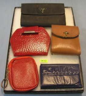 Group Of Vintage Ladies Leather Wallets
