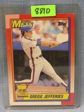 Vintage Gregg Jefferies Rookie Baseball Card