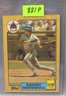 Vintage Danny Tartabull Rookie Baseball Card