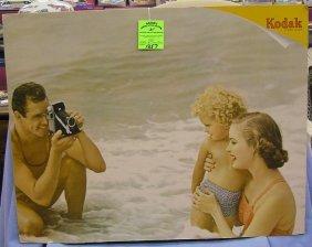 Early Kodak Camera Store Display Sign
