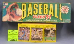 Box Full Of 1991 Fleer Baseball Cards