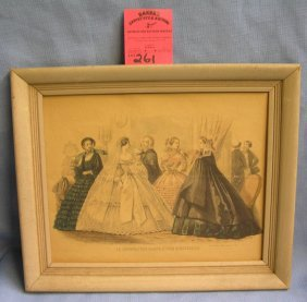 Antique Victorian Hand Colored Print
