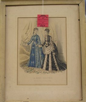 Early Hand Colored Victorian Print