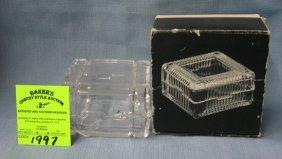 Crystal Trinket Box Marked Cunard