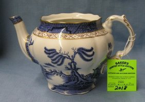 Vintage Royal Dalton Blue Willow Teapot