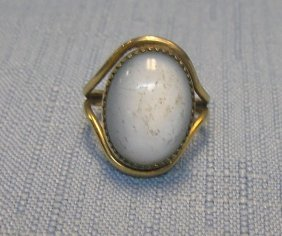 Vintage Gold Filled Ring With Large Pearl