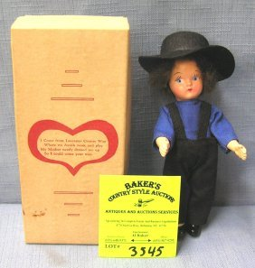 Vintage Amish Boy Doll