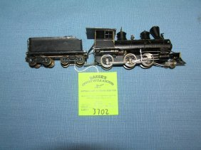 Vintage Scale Painted Brass Engine And Coal Tender