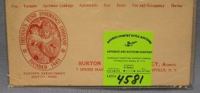 Vintage Fireman's Fund Insurance Co. Ink Blotter