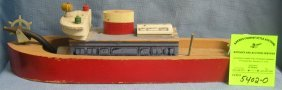 Antique Wooden Fire Pumper Boat Circa Wwii