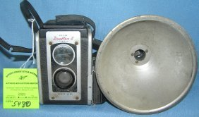 Vintage Kodak Duoflex Camera And Flash Unit