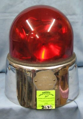 Vintage Police Car Lighted Flashing Signal Light