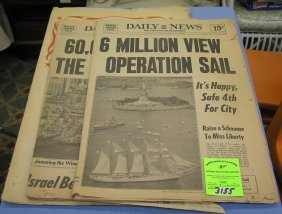 Collection Of Vintage Bicentennial Newspapers