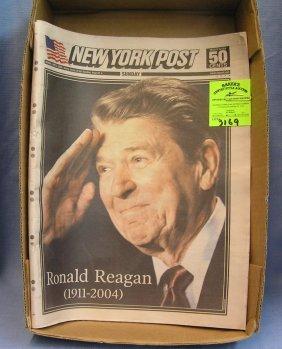 Vintage Ronald Reagan Newspaper