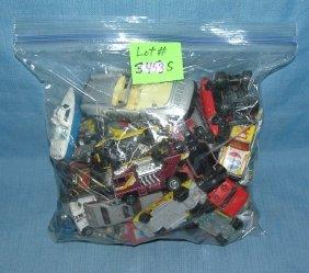 Large Bag Full Of Vintage Die Cast Toy Cars