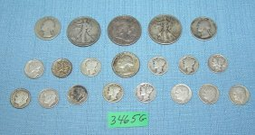 Group Of All Silver Us Coins