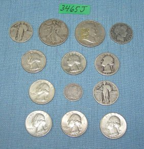 Group Of Early All Silver Us Coins