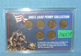 Wwii Era Shell Case Penny Collection
