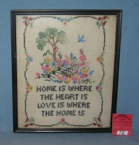 Antique Hand Stitched Sampler