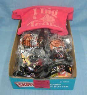 Box Of Vintage Tonka Toys With T Shirt