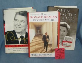 Group Of Three Ronald Reagan Books