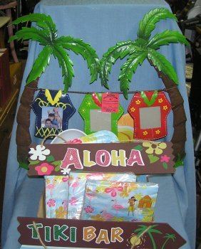 Large Box Of Tiki Bar And Luau Party Supplies