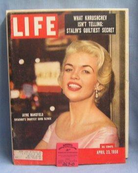Vintage Jayne Mansfield Life Magazine