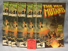 Vintage Marvel New Mutant Comic Books