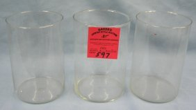 Group Of Three Vintage Glass Crystal Beakers