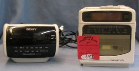Pair Of Vintage Clock Radios