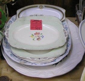 Group Of Vintage Serving Platters And More