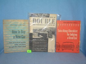 3 Automotive Related Books And Booklets