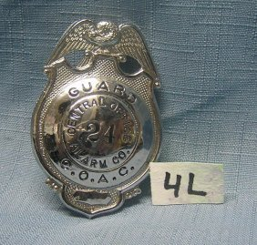 Central Office Alarm Co. Security Guard Badge