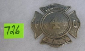 Middle Village Ny Chemical Fire Dept Badge