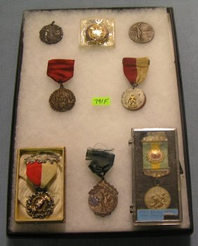 Group Of Early Sports Medals, Ribbons & Awards