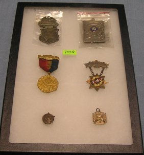 Great Early Collection Of Lodge Collectibles
