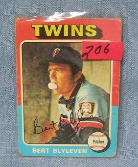 Vintage Bert Blyleven Baseball Card